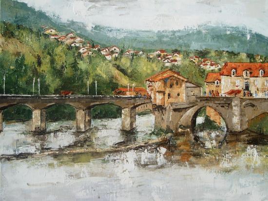 Le vieux pont de Millau 61x46   320
