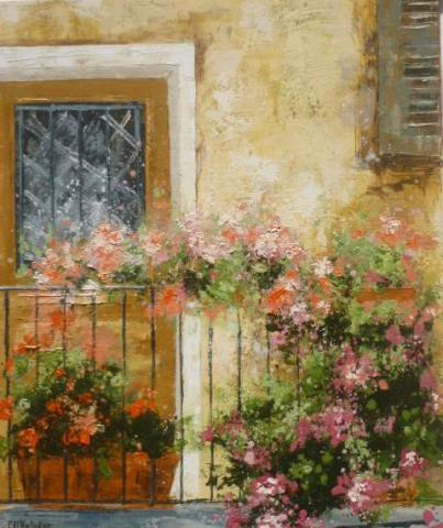 le balcon en fleures 55x46