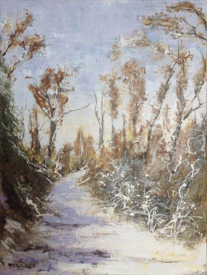 Sentier sous la neige 61x46