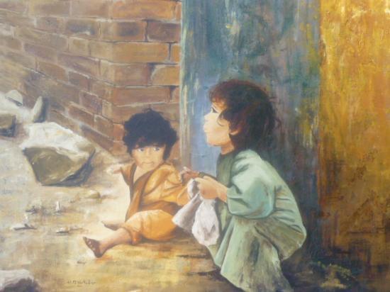 Les  petits  chiffonniers  du  Caire  100x81