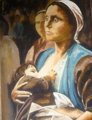 La  mère  et  l'enfant  116x73